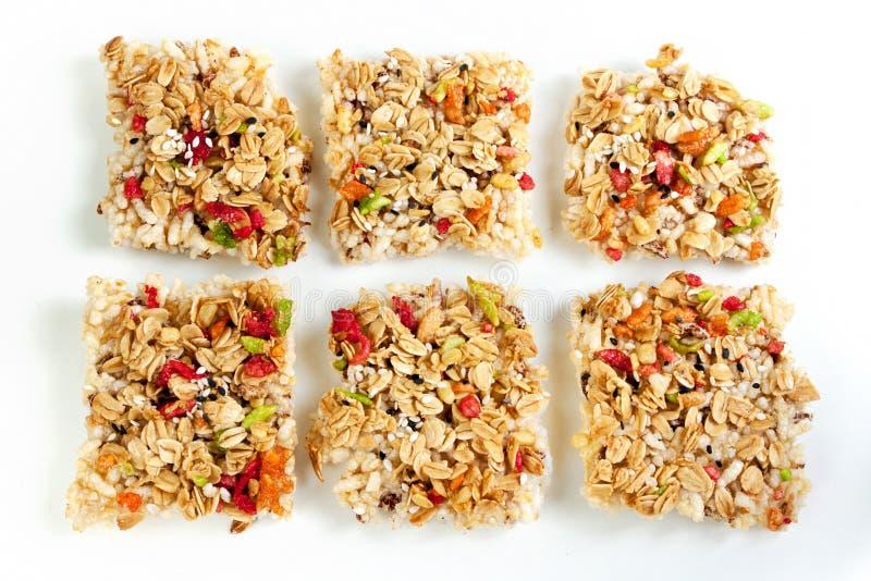 Crispy grains granola bar royalty free stock images