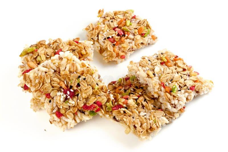Crispy grains granola bar royalty free stock image