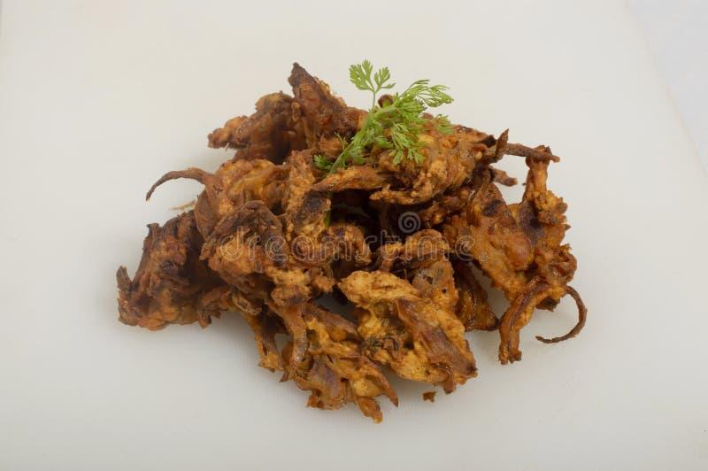 Crispy Kanda Bhaji or Pyaj Pakode or fried onion pakora royalty free stock images