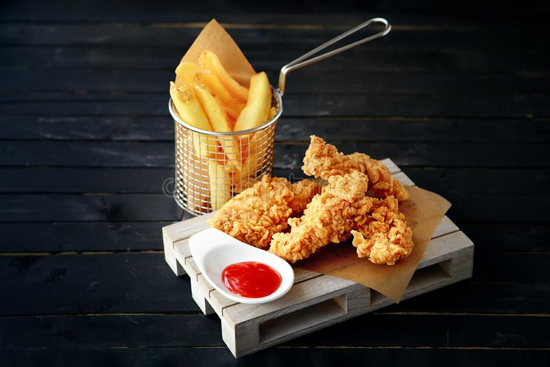 Crispy roast chicken french fries stock images download - Kentucky french chicken ...