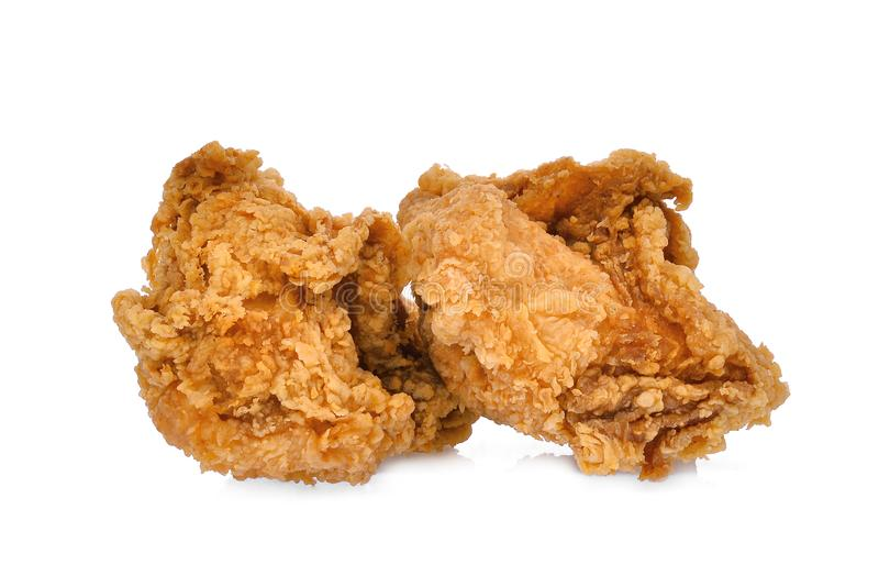 Crispy kentucky fried chicken isolated on white royalty free stock photography