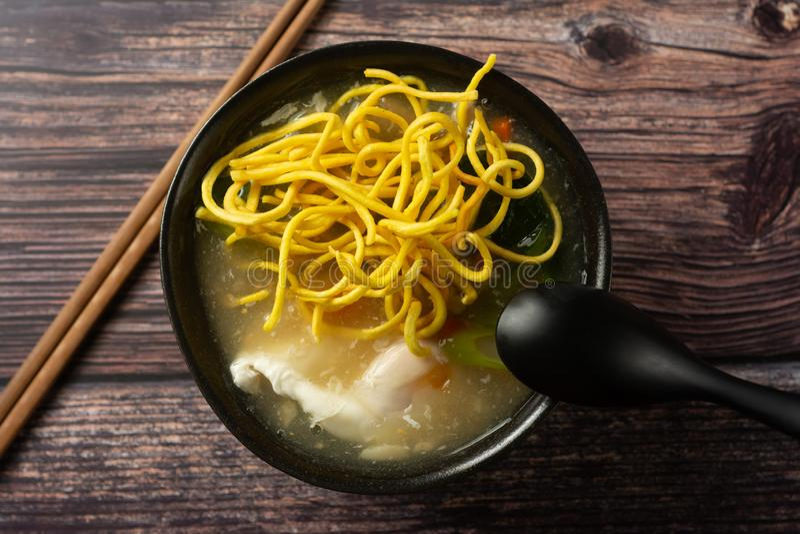 Crispy Noodle with Pork Thai Recive stock photos