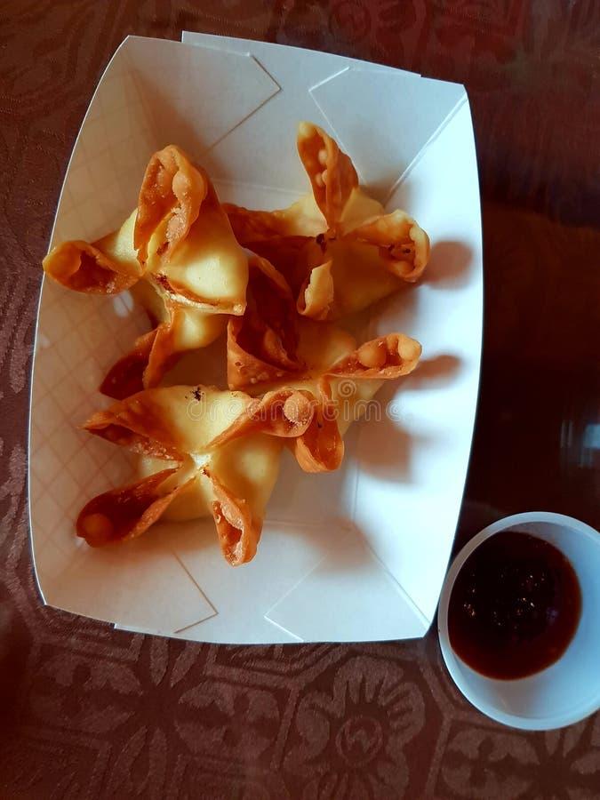 Crispy rangoons zdjęcia royalty free