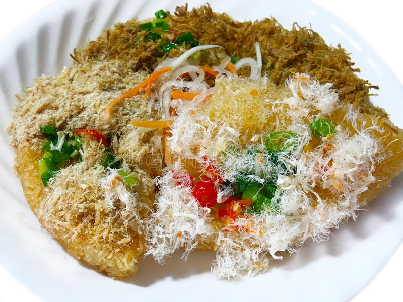 Crispy Rice with Meat Floss royalty free stock photo