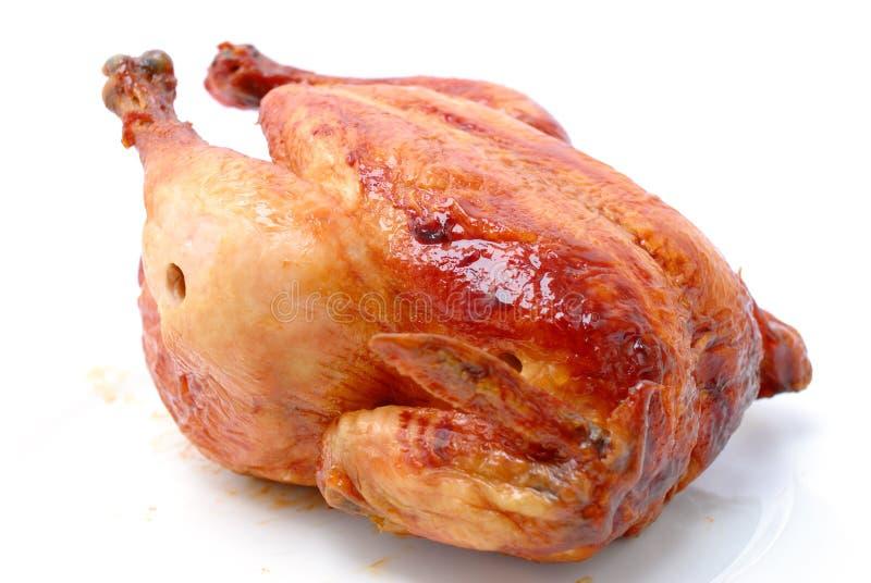 Crispy Roast Chicken royalty free stock photo