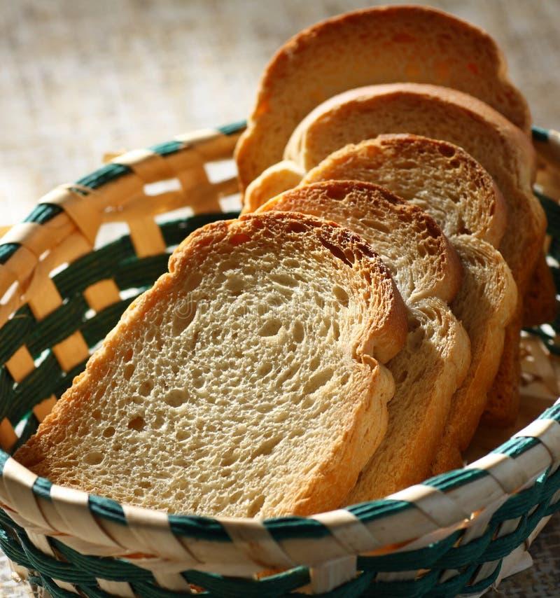 Crispy rostat bröd arkivbild