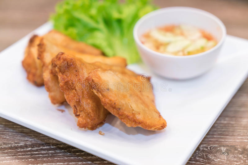 Crispy spring roll stuffed with prawns royalty free stock image