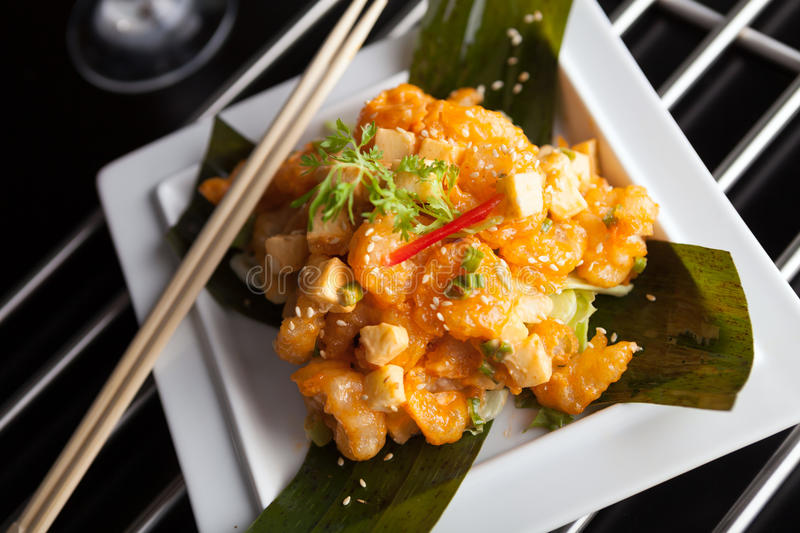 Crispy Thai Shrimp Dish royalty free stock photography