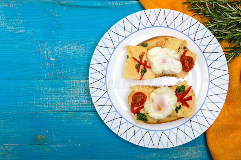 Blue Cheese Toast Stock Photo Image Of Freshness