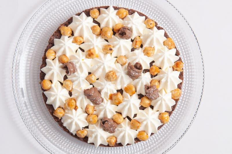 Crispy warstwa z czekoladą zdjęcia royalty free