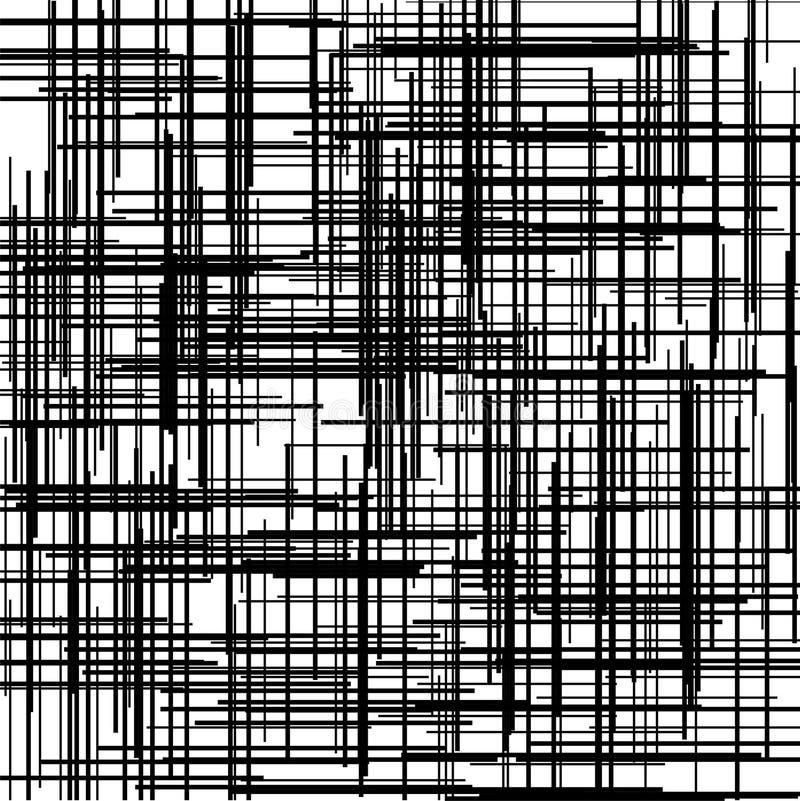 Criss十字架样式 与相交直线的纹理 数字式孵化 也corel凹道例证向量 向量例证