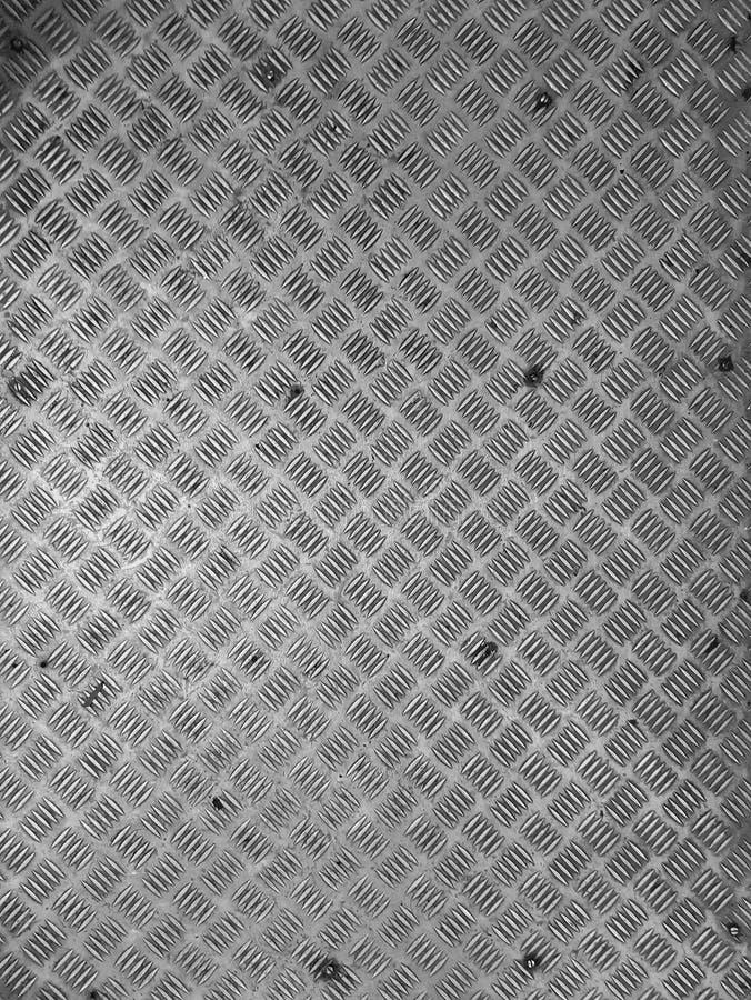 Criss attraversa fondo d'acciaio del modello di scivolo di slittamento del pavimento l'anti fotografia stock