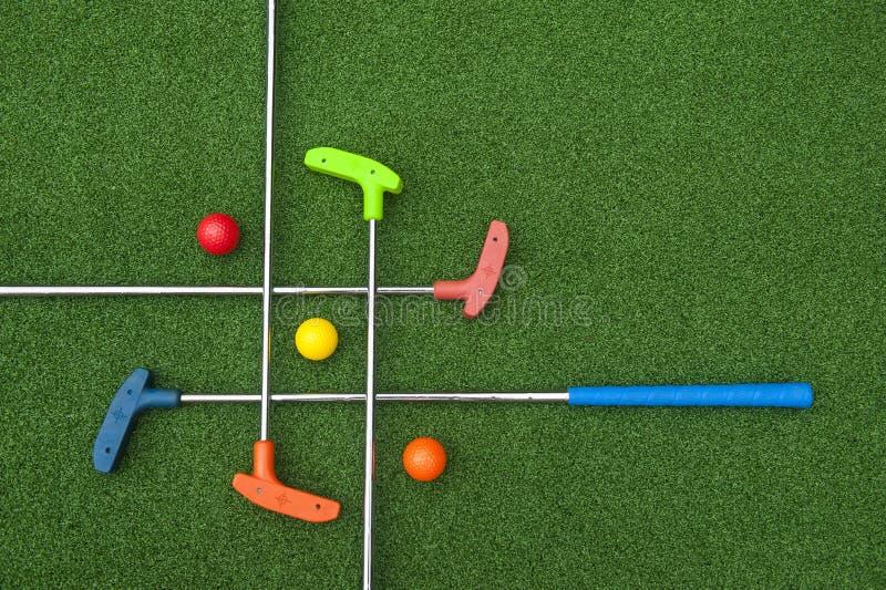 Criss Cross di Mini Golf Clubs fotografia stock