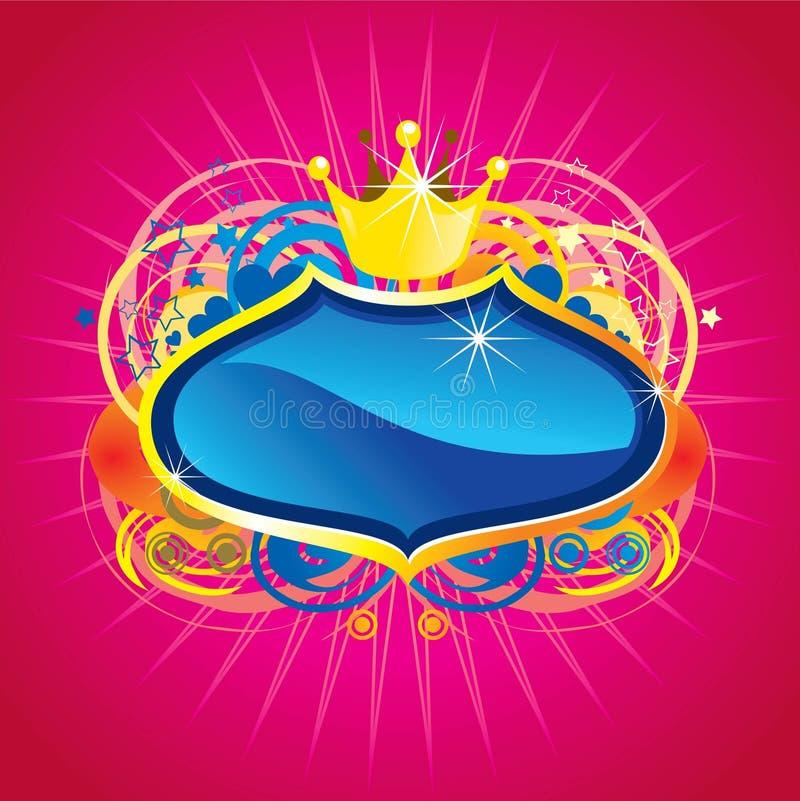 Crista azul Shinning ilustração stock