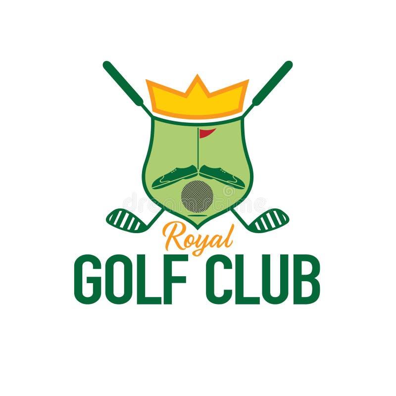 Crista do clube de golfe ilustração do vetor