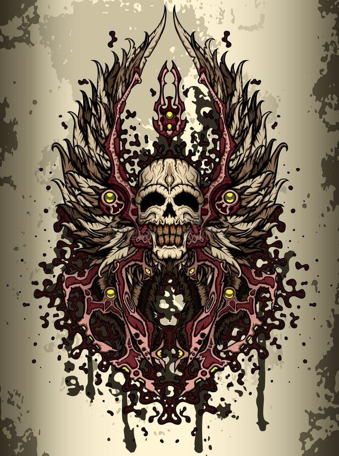 Crista do crânio ilustração royalty free