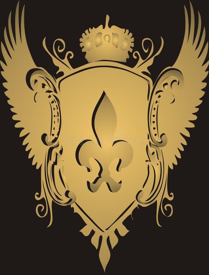 Crista dourada ilustração do vetor