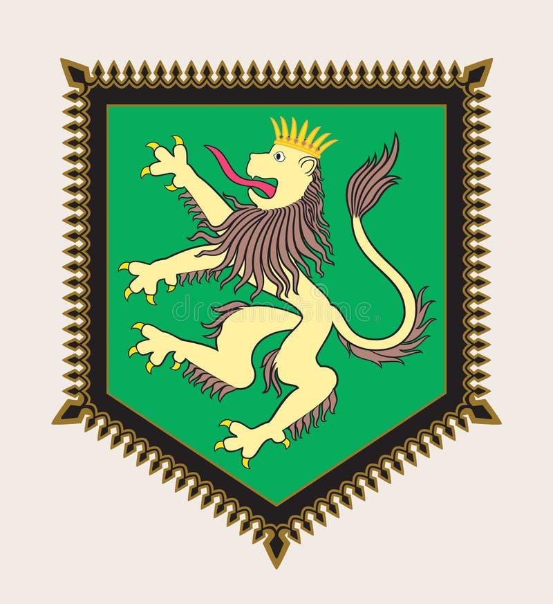 Crista heráldica do leão ilustração royalty free