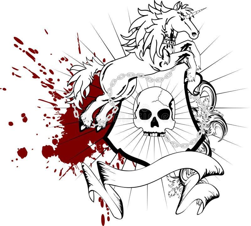 Crista heráldica shield2 da brasão do unicórnio ilustração royalty free