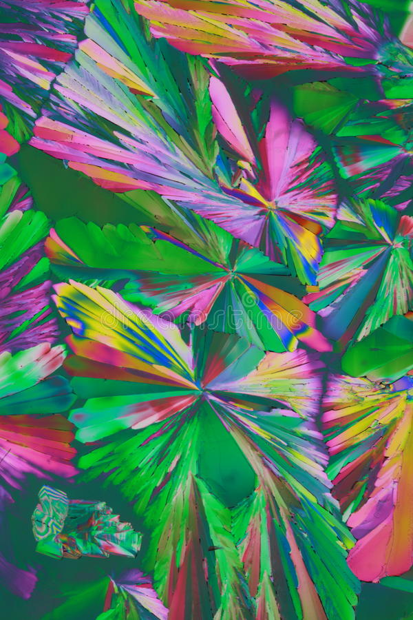 Cristais coloridos imagem de stock