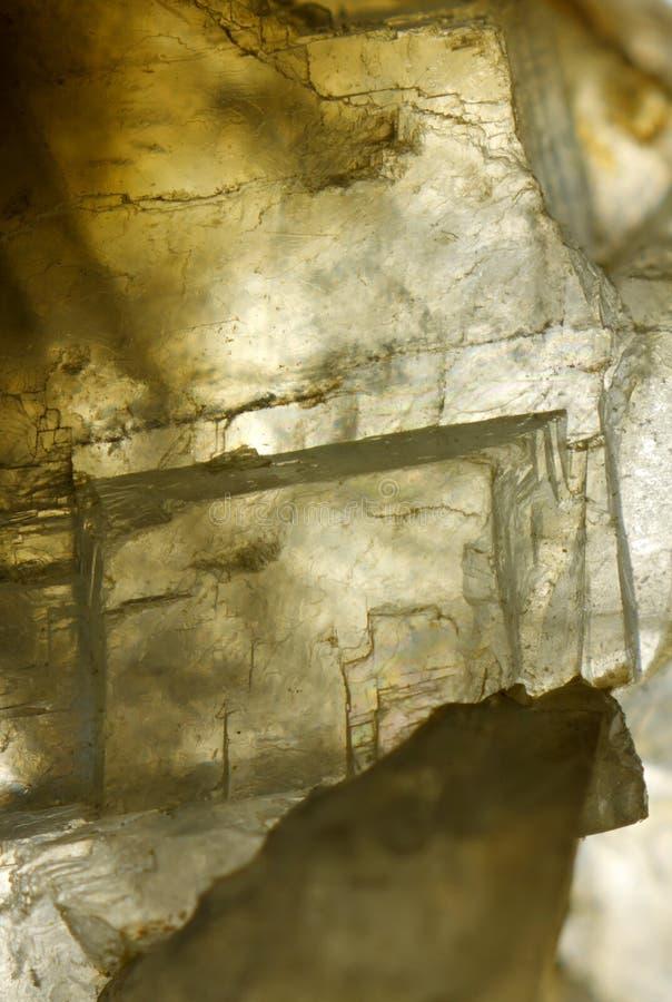Cristais da calcite (carbonato de cálcio) fotografia de stock