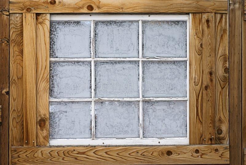 Cristais de gelo congelados da névoa no indicador fotos de stock royalty free