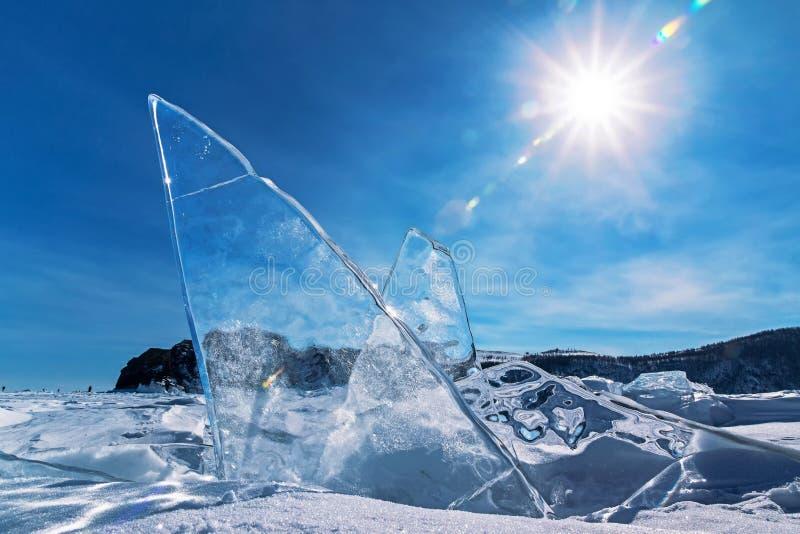Cristais de gelo sob a forma das asas foto de stock