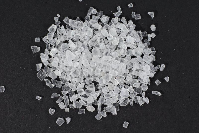 Cristais de sal de rocha fotografia de stock