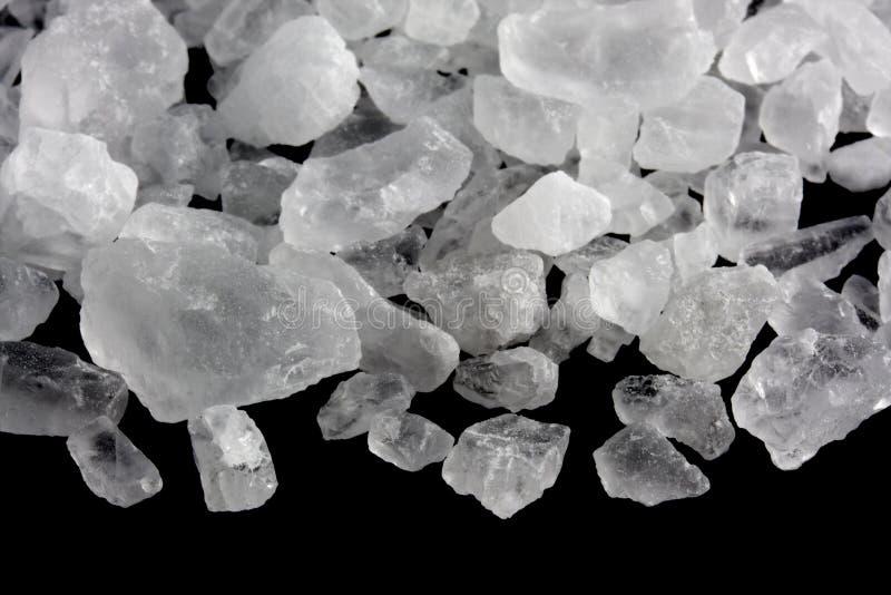 Cristais de sal de rocha foto de stock
