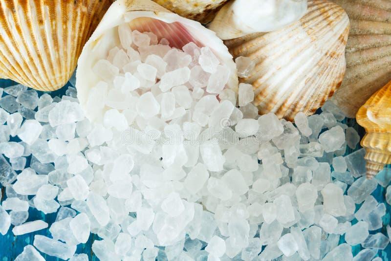 Cristais de sal do mar fotografia de stock