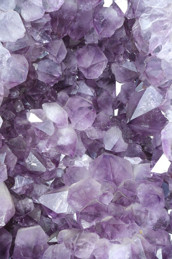 Cristal. Violet crystal stock photo