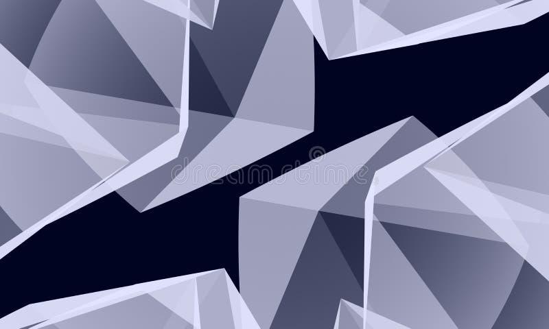 Cristal abstracto ilustración del vector