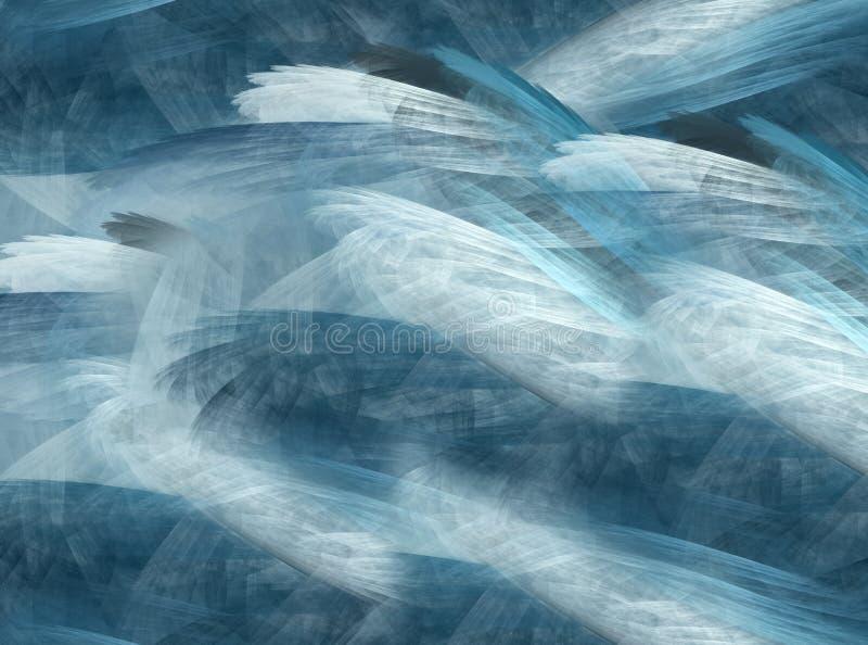 Cristal abstrait de fond, fractale illustration libre de droits