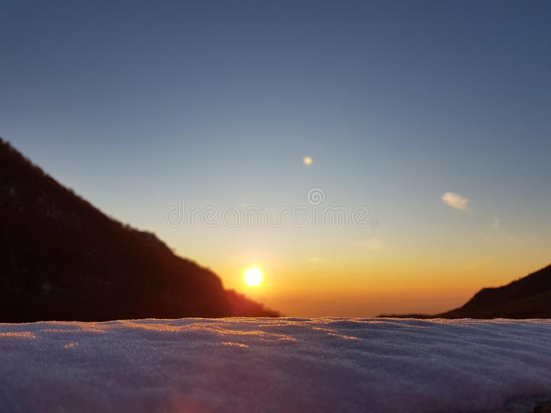 Cristal au soleil photographie stock libre de droits