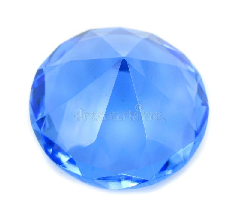 Cristal brillant bleu de diamant photo stock