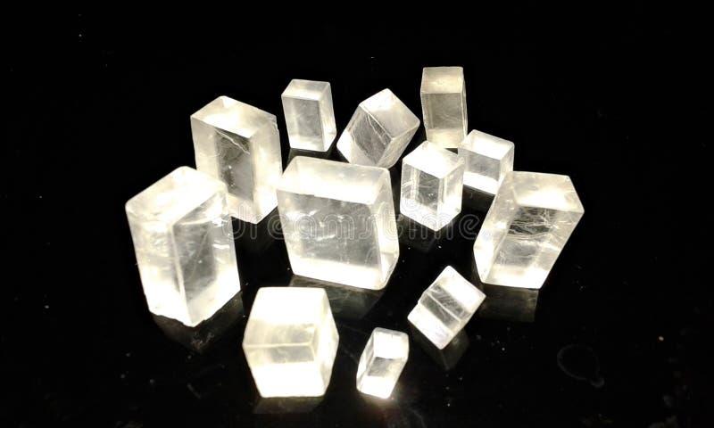 Cristal calcite royaltyfria bilder