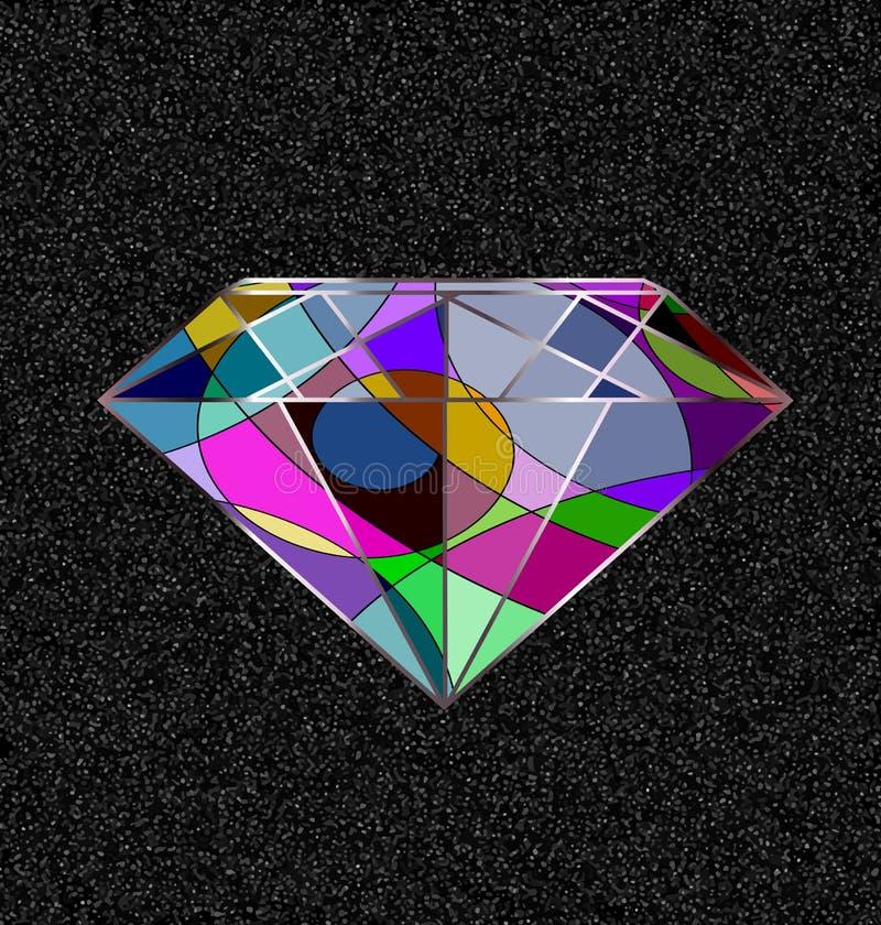 Cristal cinzento e abstrato ilustração stock