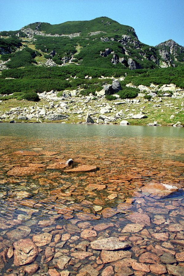 Cristal clear water lake stock images