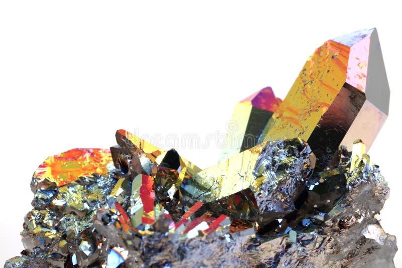 Cristal con la superficie del arco iris del metal imagen de archivo libre de regalías