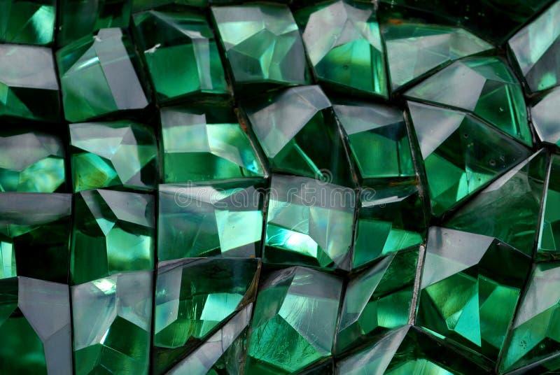 Cristal da cor verde fotografia de stock royalty free