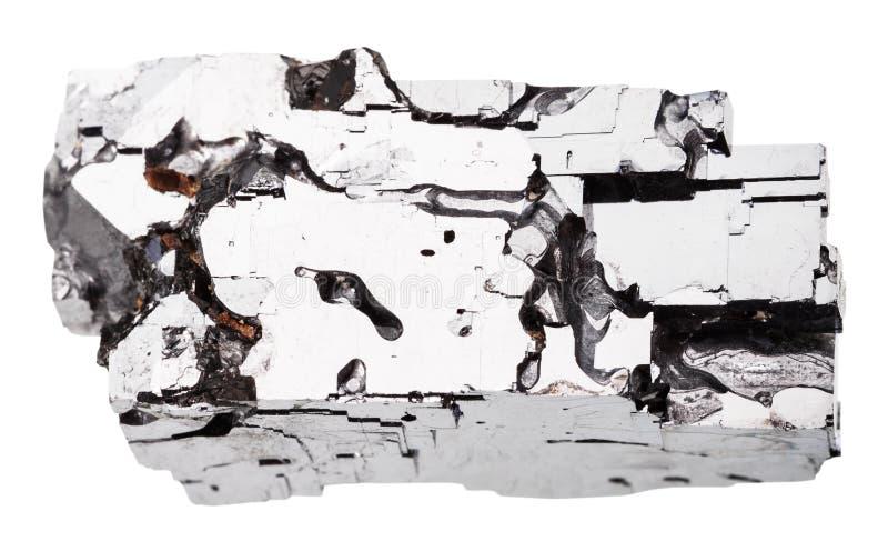 Cristal da pedra do galeno isolado fotografia de stock