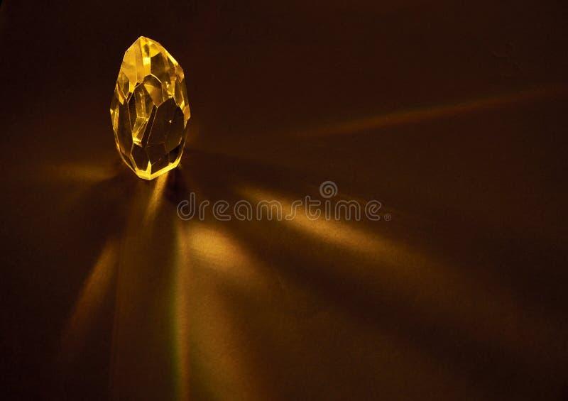 Cristal de cuarzo amarillo grande fotos de archivo libres de regalías