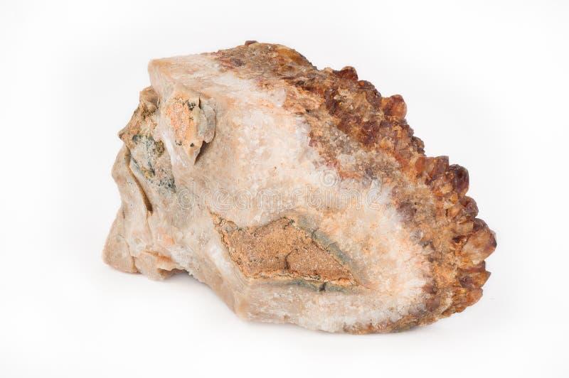 Cristal de cuarzo citrino imágenes de archivo libres de regalías