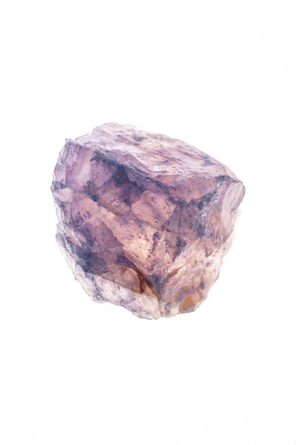 Cristal de cuarzo de Rose fotos de archivo