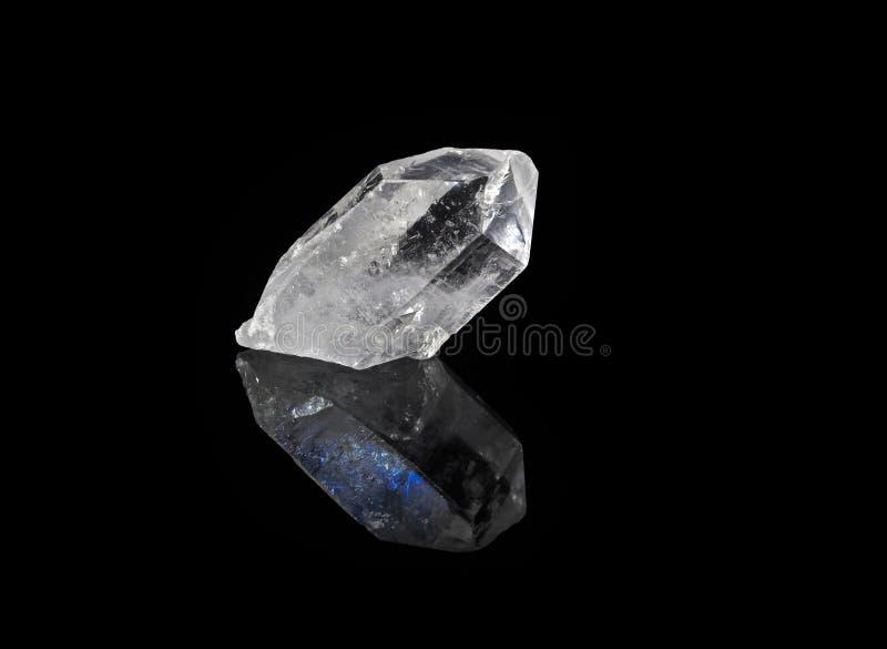 Cristal de cuarzo prismático fotografía de archivo