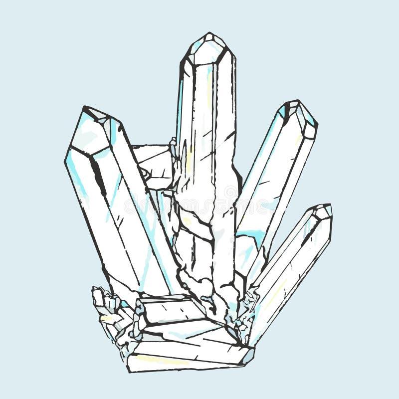 Cristal de dessin image stock