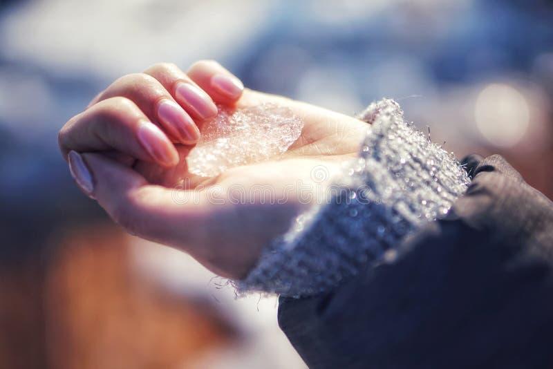 Cristal de hielo imagen de archivo