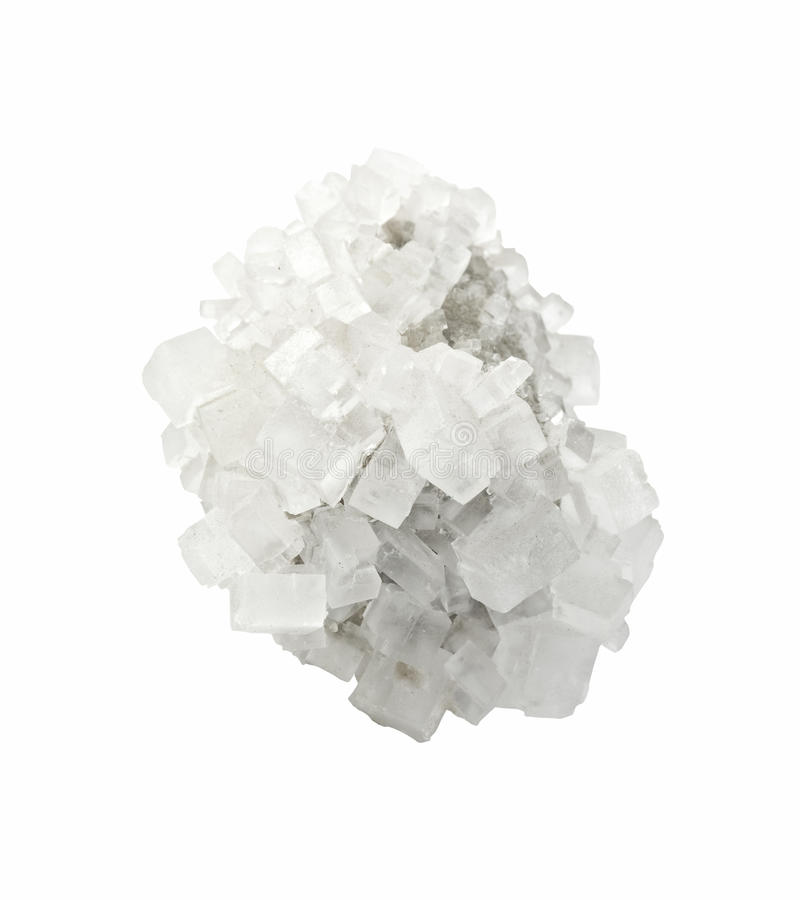 Cristal de la sal mineral imagenes de archivo