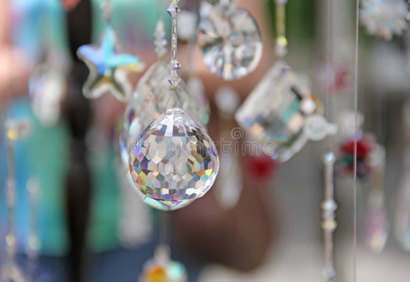 Cristal de larme avec le prisme multi de couleur photo libre de droits