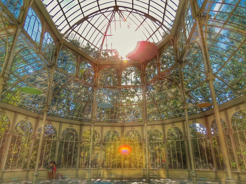 cristal de palacio royaltyfri foto